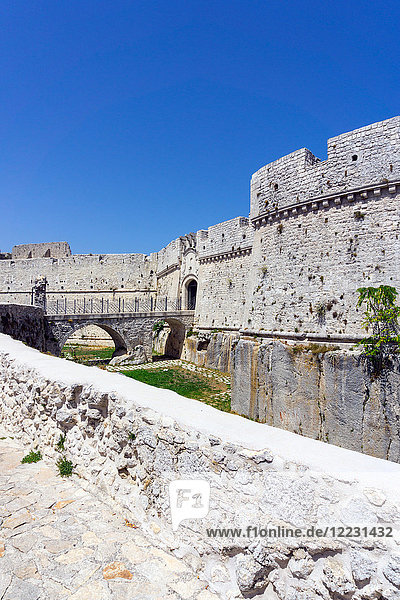 Italy  Apulia  Monte Sant'Angelo  the castle