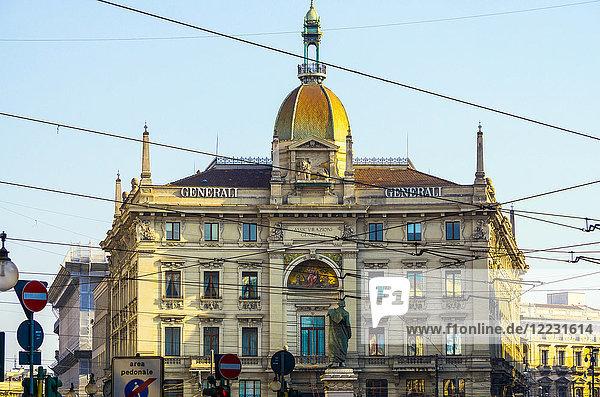 Italy  Lombardy  Milan  Piazza Cordusio  Palazzo delle Assicurazioni Generali