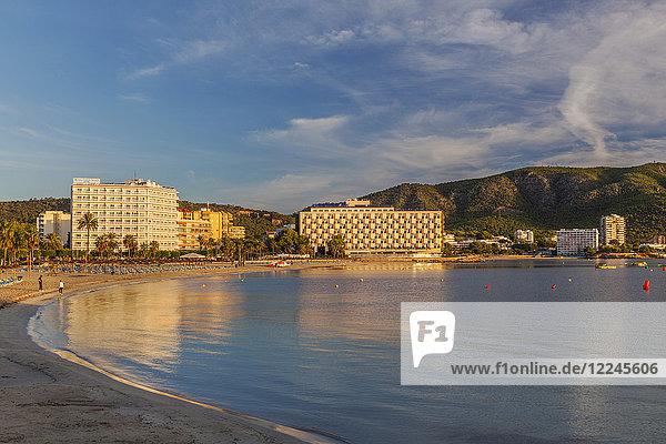 Palma Nova Beach  Majorca  Balearic Islands  Spain  Mediterranean  Europe