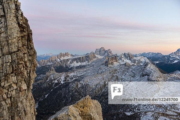 Pelmo at sunset  Dolomites  Veneto  Italy  Europe