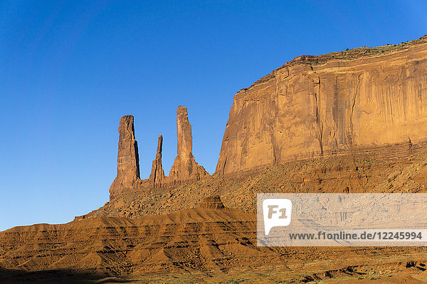 The Three Sisters  Monument Valley  Utah  United States of America  North America