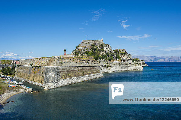 Old Fortress of Corfu town  Corfu  Ionian Islands  Greek Islands  Greece  Europe