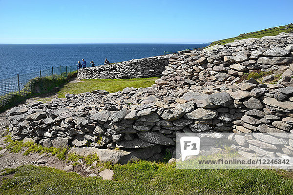 Dunbeg Promontory Fort  Slea Head Drive  Dingle Peninsula  Wild Atlantic Way  County Kerry  Munster  Republic of Ireland  Europe