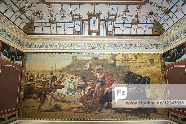 Der Triumph des Achilles  Gemälde im Achilleion-Palast  Altstadt von Korfu  Ioanianische Inseln  Griechenland  Europa