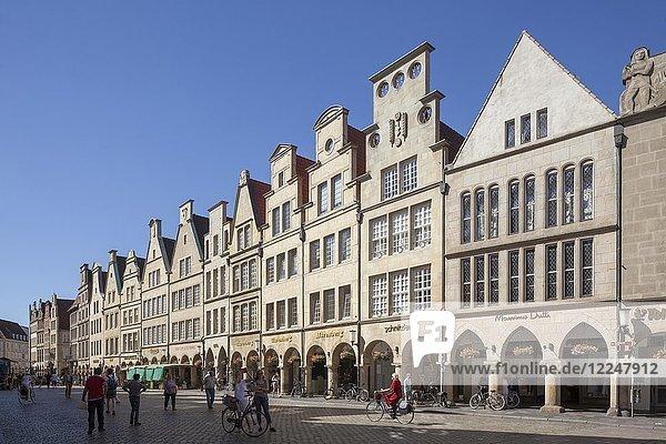 Gabled houses  Prinzipalmarkt  Münster  North Rhine-Westphalia  Germany  Europe