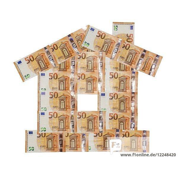 Haus aus 50 Euro-Banknoten ab 2017
