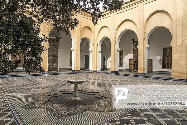 Courtyard  Dar Batha Museum  Fez  Morocco  Africa