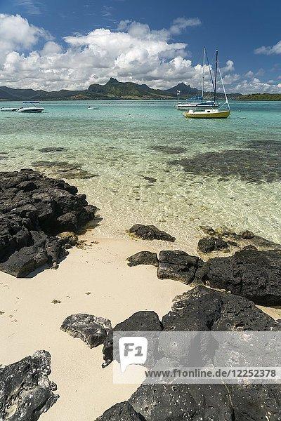 Badebucht am Pointe d'Esny  Mahebourg  Grand Port  Mauritius  Afrika