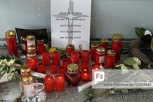 Shrine for the victims of the Bad Aibling train crash  Upper Bavaria  Germany  Europe