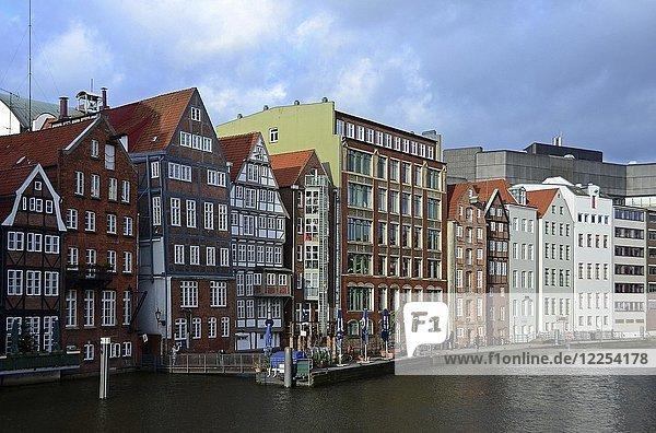 Historische Häuser am Nikolaifleet  Hamburg  Deutschland  Europa
