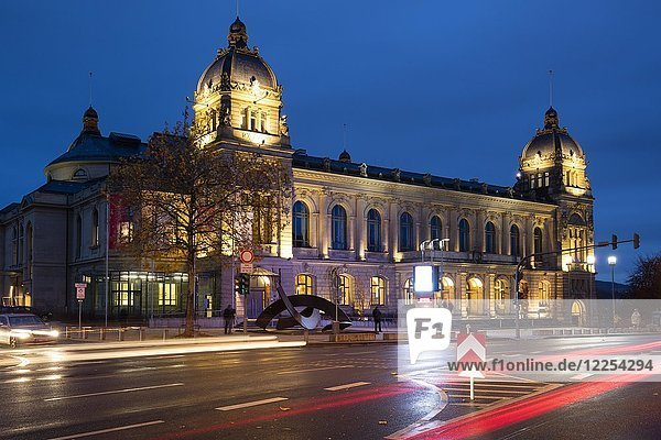 Historic town hall  night view  Wuppertal  Bergisches Land  North Rhine-Westphalia  Germany  Europe