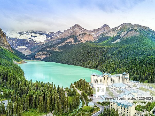 Turquoise Louise Lake in Rockies Mountains  Banff National Park  Alberta  Canada  North America