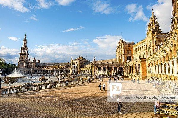 Plaza de España  Seville  Spain  Europe