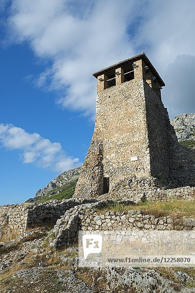 Turm  Festung  Kruja  Albanien  Europa