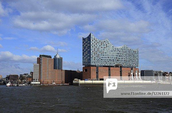 Blick auf die Elbphilharmonie  Hamburg  Deutschland  Europa