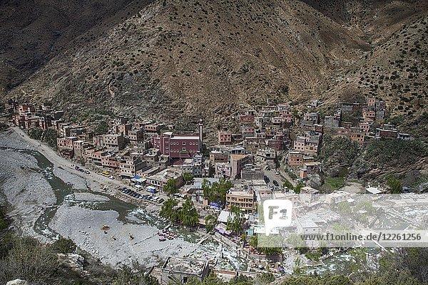 Sicht auf Bergort  Setti Fatma  Marokko  Afrika