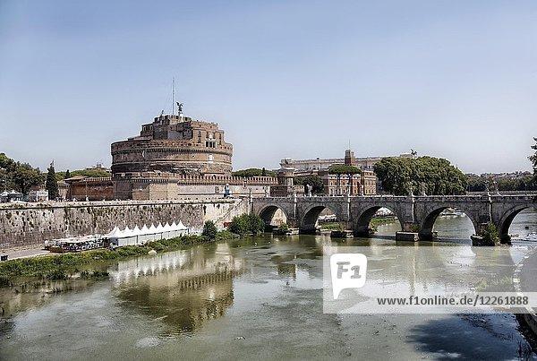 Engelsburg am Tiber  Rom  Italien  Europa