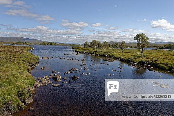 Loch Ba  Loch Bà  Rannoch Moor  Council Areas Highland  Perth und Kinross  Highlands  Schottland  Großbritannien  Europa