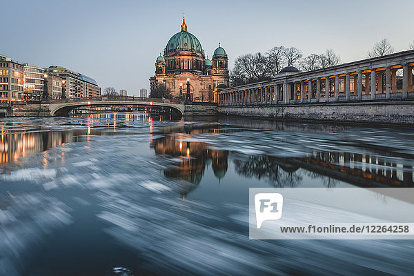 Germany  Berlin  view to Berliner Cathedral at twilight