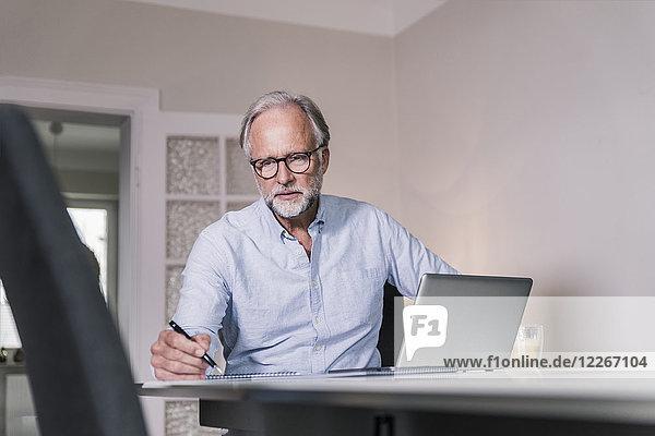 Porträt eines Geschäftsmannes im Home-Office