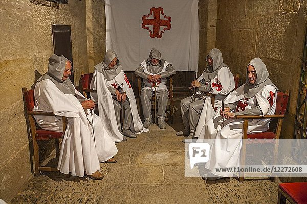Historical reenactment of the life of a Castilian town in the 14th century. Medieval Festival. Briones. La Rioja. Spain