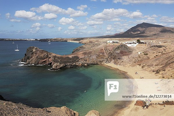 Punta del Papagayo  Canary Islands  Lanzarote  Spain.