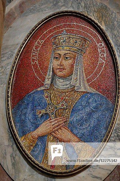 St Olga mosaic in St Peter's basilica.