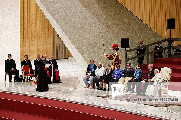 Fratello pilgrimage in Rome. Cardinal Philippe Barbarin giving a speech.