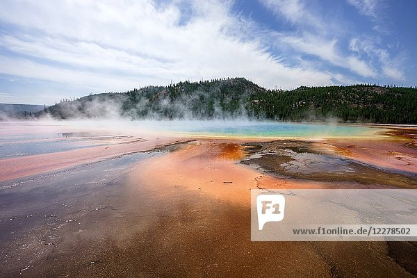 Grand Prismatic Spring  Yellowstone National Park  Wyoming  Usa.