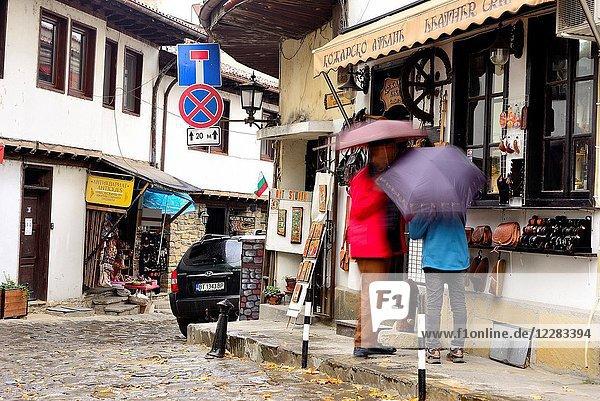 Street in the historical center of Veliko Tarnovo  Bulgaria.