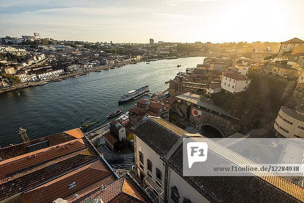 View of the old town of Oporto from.