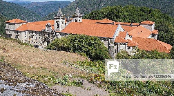 Monasterio de San Estevo de Ribas de Sil (parador de turismo). Ourense. Galicia. Spain.