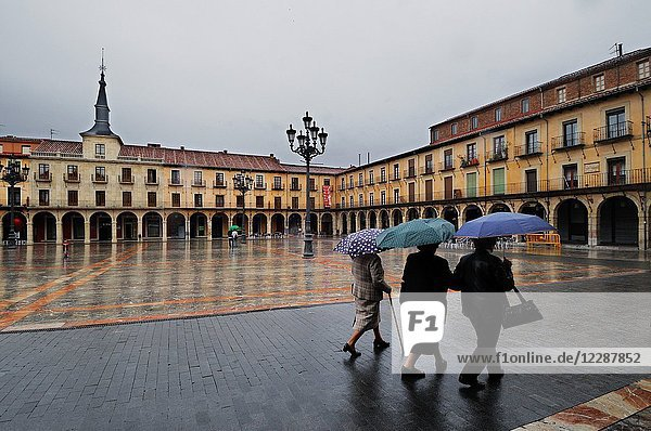 Plaza Mayor de León. Castilla y León  Spain.
