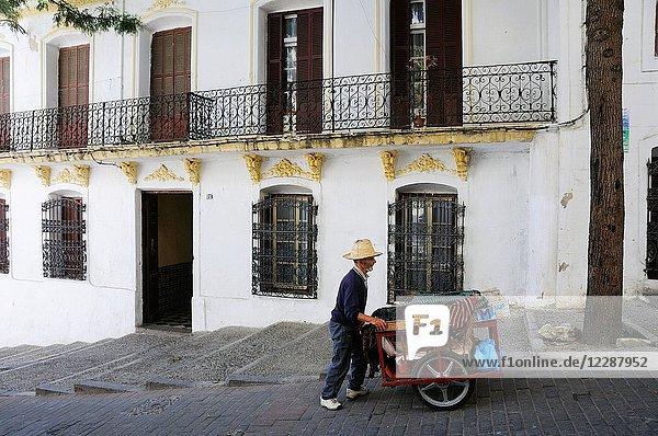 Street scene in Tanger  Morocco.