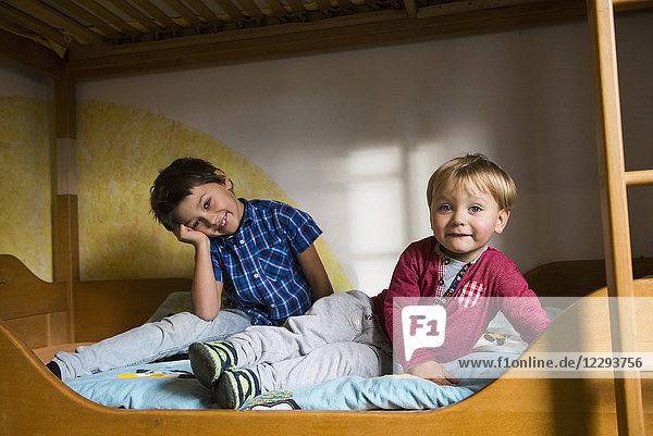 Brothers in bunkbed  Munich  Germany