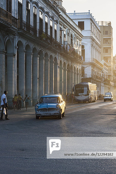 Buildings and street scene  Havana  Cuba