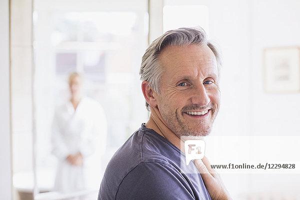 Portrait smiling  confident mature man