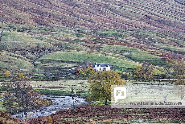 House in remote  rural glen  Glen Lyon  Scotland