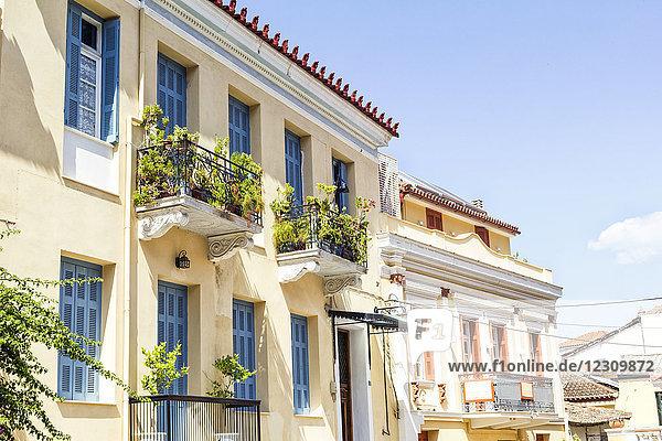 Griechenland  Peloponnes  Argolis  Nauplia  Altstadt  Hausfassaden