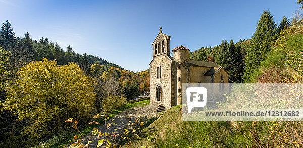 France  Auvergne  Montclard chapel near Paulhaguet