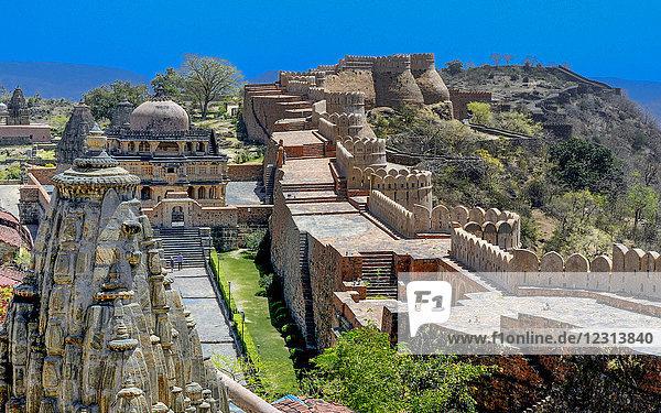 India  Rajasthan  Kumbhalgarth Fort (15th Century)  Mewar fortress