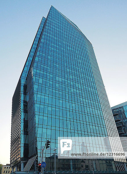 Europe   italy   Lombardy   Milan   Porta Nuova district   architecture contemporary  reflections from the Diamond Tower   designed by architect Lee Polisano