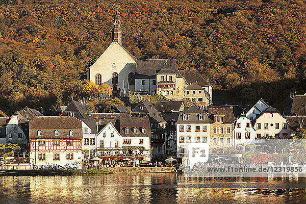 Town of Beilstein on Moselle River  Rhineland-Palatinate  Germany  Europe
