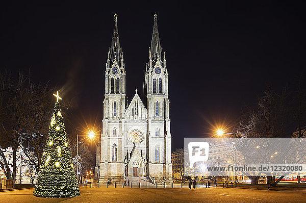 Church of Saint Ludmila  Prague  Czech Republic  Europe