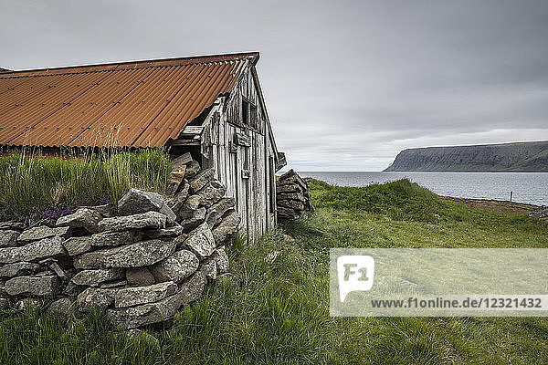 Abandoned farmhouse  Westfjords  Iceland  Polar Regions