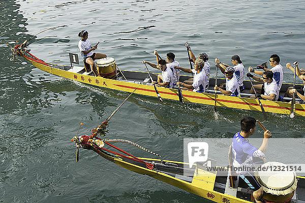 Dragon boat race  Shau Kei Wan  Hong Kong Island  Hong Kong  China  Asia