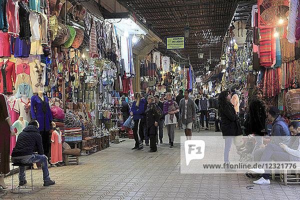Souk  Market  Medina  UNESCO World Heritage Site  Marrakesh (Marrakech)  Morocco  North Africa  Africa