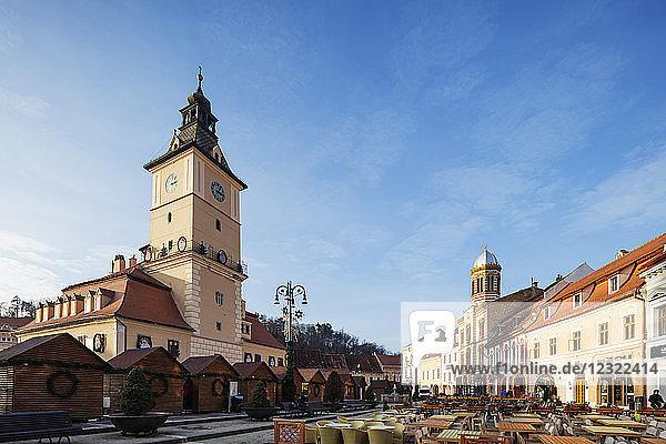 History Museum building and clock tower  Brasov  Romania  Europe