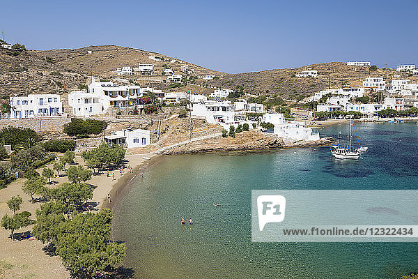 Faros beach on island's south east coast  Faros  Sifnos  Cyclades  Aegean Sea  Greek Islands  Greece  Europe