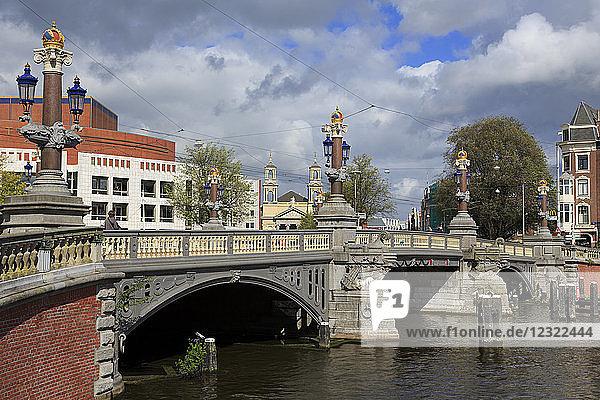 Blauwbrug Bridge  Amsterdam  North Holland  Netherlands  Europe